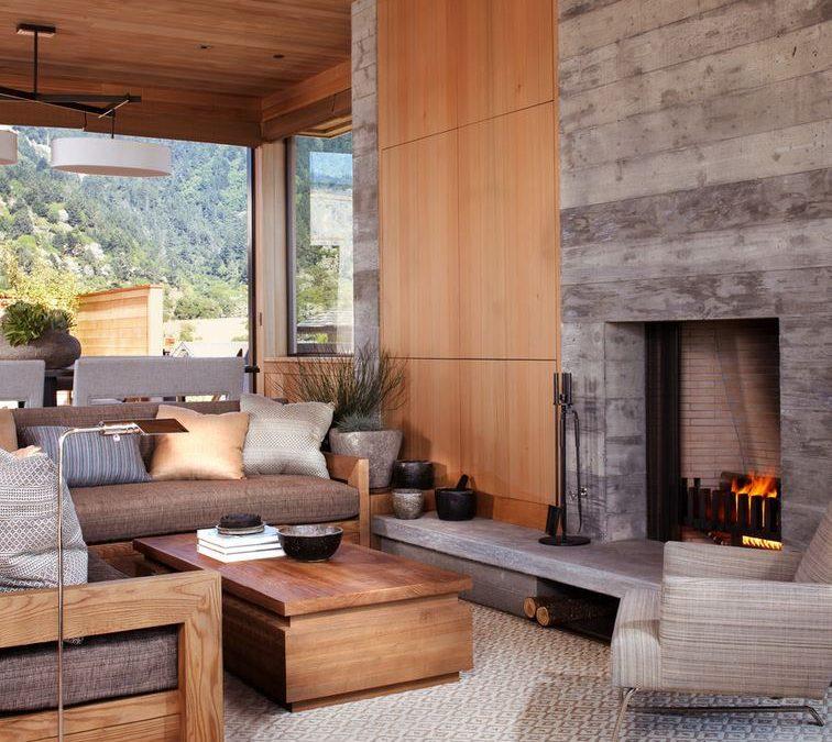 Fireplace Surround Tile Enhances Décor